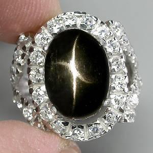 anel com pedra preta