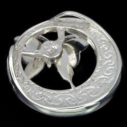 Pingente Borboleta de Prata 925 com  Madreperola Natural