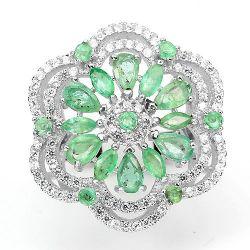 anel esmeralda natural