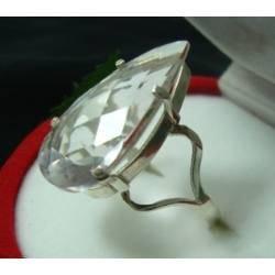 anel prata com pedra natural