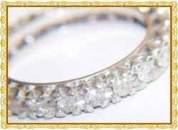 aliança de ouro branco com diamante