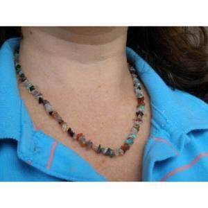 Colar Multicolorido de Pedras Brasileiras com Fecho de Ouro