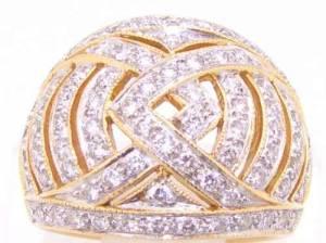 Anel Pavê de Diamantes Ouro 18k-750