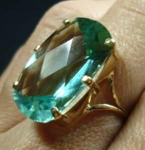 anel feminino de ouro 18k 750 com ametista verde natural