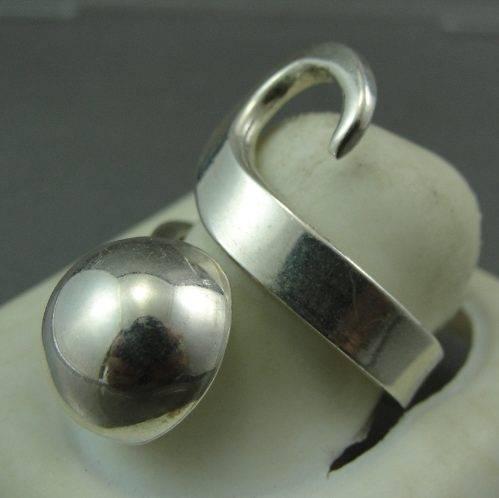 Anel de Prata Italiana 925 Design Esfera De Prata