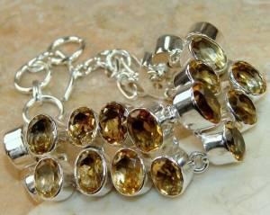 Bracelete de Prata 925 com Citrinos Top Naturais