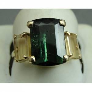 anel de ouro 18k 750 com turmalina e topazio imperial vvs