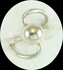 Anel em Prata 925 com Esfera