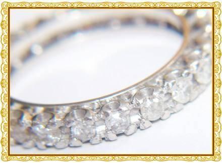 aliança em ouro branco 18k 750 com 23 diamantes de 3 pontos