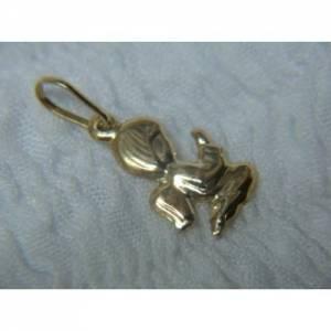 pingente berloque de anjinho de ouro amarelo 18k