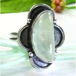 Anel de Prata 925 com Phrenite Natural