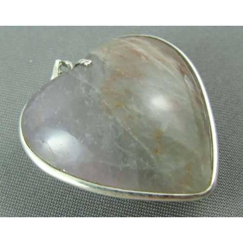 Pingente de Prata 925 com Ametista em Formato de Coração