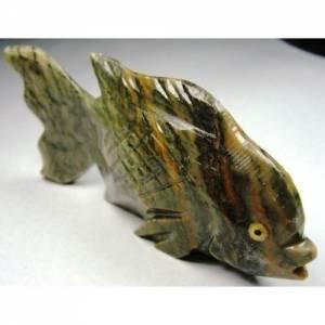 Peixe Esculpido em Calcedônia com 168,5 Cts