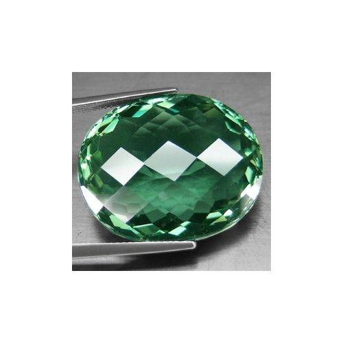 Ametista Verde Oval Checkboard VVS com 39 Cts