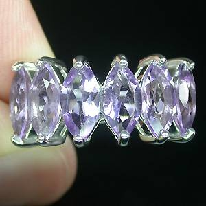 anel de prata com ametista