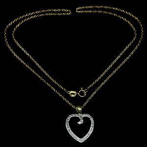 Colar de Ouro 14k Plated (Prata 925) com 24 Diamantes Naturais