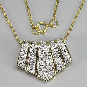 colar de ouro 14k plated prata 925 com diamante natural