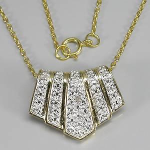 colar de ouro 14k plated prata 925 com diamante natural