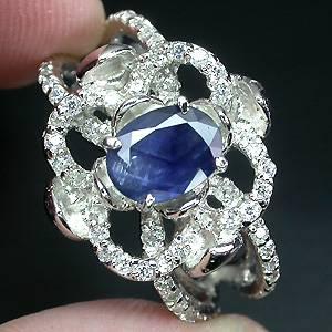 anel de prata com pedra zirconia