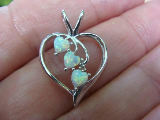 Pingente de Prata 925 com Opalas de Fogo